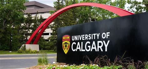 University of Calgary sign at the entrance to campus